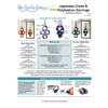 INSTRUCTIONS -Japanese Cross and Polyhedron earrings - left hand - PDF, INS-JCRSPLY-L