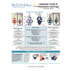 INSTRUCTIONS -Japanese Cross and Polyhedron earrings - right hand - PDF, INS-JCRSPLY-R