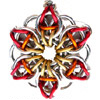 Celtic Visions Star, KIT - Celtic Visions Star Pendant - Aluminum (enough for 2 pendants), aluminum chainmaille celtic visions star pendant in gold orange and red
