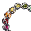 Elegant Hourglass, KIT - Rainbow Elegant Hourglass - Stainless Steel Variation w. Rainbow  Crystals, captive crystal chainmaille kit