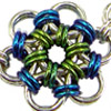 Japanese Flower, KIT - Japanese Flower Bracelet - Aluminum, chainmaille japanese flower bracelet kit