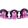 Rubber Barrel Chainmaille Bracelet Kit, KIT - Rubber Barrel Ride - custom (enough for 2 bracelets), Rubber chainmaille barrel weave in black rubber rings with pink anodized aluminum rings