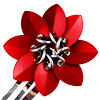 Scale Barrette, KIT - Large Scale Barrette - 2 Piece, red flower barrette made of scalemaille