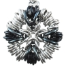 Southern Cross, KIT - Southern Cross 3 Pack -  Aluminum w. Black & Iridescent Gunmetal, southern cross chainmaille pendant in silver and grey