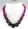 Tapered Mobius, KIT- Tapered Mobius - Rocker Chic Fade, graduated chainmaille necklace in purple, violet and pink