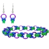 Bisected Byzantine, KIT - Bisected Byzantine - Bracelet & Earrings kit - Custom, DIY introductory rubbermaille kit, a byzantine variation in purple blue and green