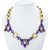Olympia, KIT - Olympia Necklace - Merlin (as shown), Olympia chainmaille necklace by Aimee Leang in gold and purple
