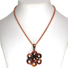 Peony Flower, KIT - Peony Flower - Persian Mix, peony chainmaille flower pendant - mobiused japanese 12-in-2