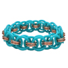 Rubber Helm Bangle, KIT - Rubber Helm Bangle, how to make rubber helm chain bracelet in turquoise and gold