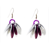 Spike Earrings, KIT - Spike Earrings - Aluminum w/ Violet AA scales (enough for 3 pairs), spiked scale earrings in silver and violet